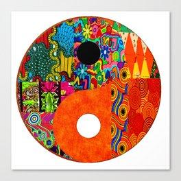Spunky yin & yang Canvas Print