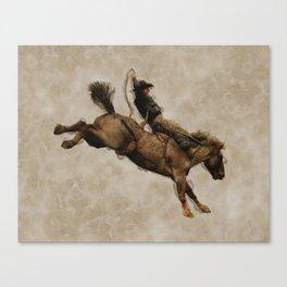 Western-style Bucking Bronco Cowboy Canvas Print