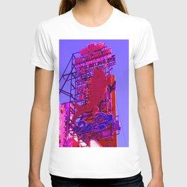 Fluorescent pink fish T-shirt
