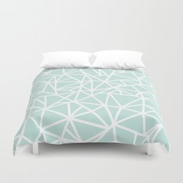 Ab Outline Thick Mint Duvet Cover