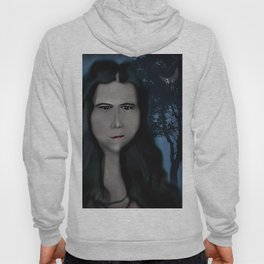 Mysterious Girl With A Long Neck. Hoody