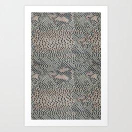 Soft Gray and Pink Snake Skin Art Print