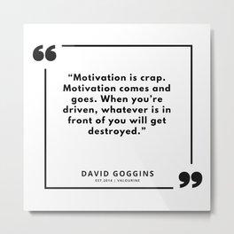 15     David Goggins Quotes   190901 Metal Print