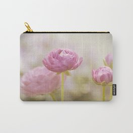 Pink floral Ranunculus flowers in love Carry-All Pouch