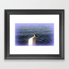 Bird on Post Framed Art Print