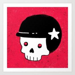 skull dude Art Print