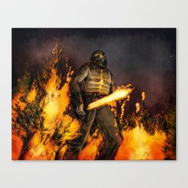 Fire Giant Canvas Print