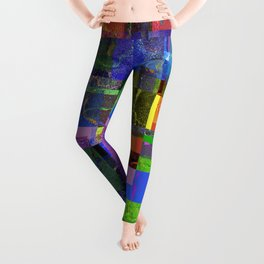 Colorful layered pattern 2 Leggings