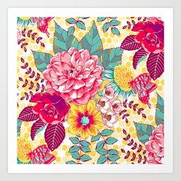Bloomin' Beauties - Sunshine Art Print