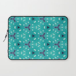 Aqua Purple and White Textured Bubble Abstract Design Laptop Sleeve