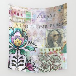 Art Journal - Prosperity & Botanicals Wall Tapestry