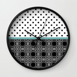 A combined decorative pattern . Wall Clock