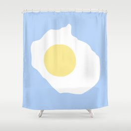 Fried Egg or 煎雞蛋 (Jiān jīdàn), 2014. Shower Curtain