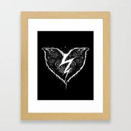 ravens heart Framed Art Print