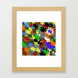 Puzzle Stones Framed Art Print