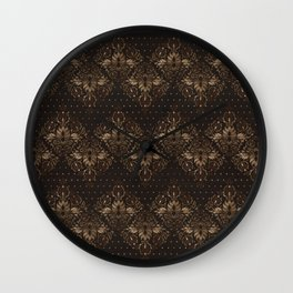 Persian Oriental pattern wood and gold Wall Clock
