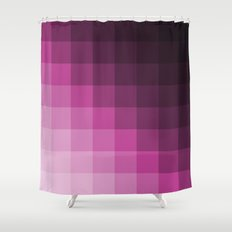 Pixel Gradient Shower Curtain