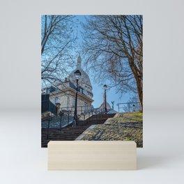 Montmartre staircase in Paris, France Mini Art Print