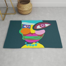 abstract portrait Rug