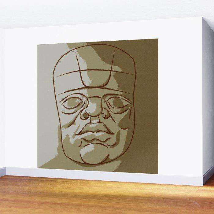 Olmeca Head Wall Mural