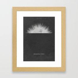 Breaking Dawn - minimal poster Framed Art Print