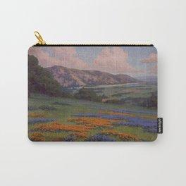 Poppies & Lupine Near Santa Paula, California by John Marshall Gamble Carry-All Pouch