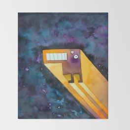Tetris Monster Zooming Throw Blanket