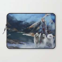 Snow Queen Snowflakes by K.M. Shea book cover Laptop Sleeve