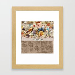 Beachcombers Seashell Paradise Framed Art Print