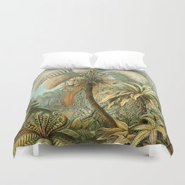 Vintage Tropical Palm Duvet Cover