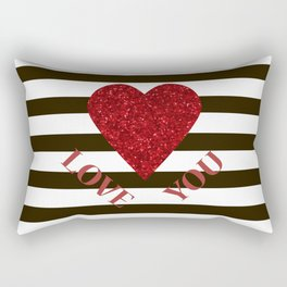 Love you Valentines day Rectangular Pillow