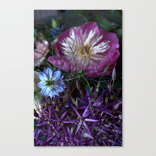 Purple Love Clusters Canvas Print