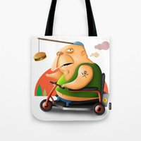 motivation Tote Bags featuring Motivation by Sloe Illustrations