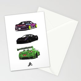 Vectored Cars Stationery Cards