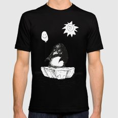 Penguin Party LARGE Black Mens Fitted Tee