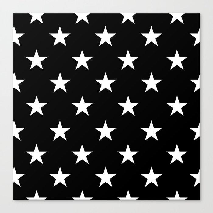 Stars (White/Black) Leinwanddruck
