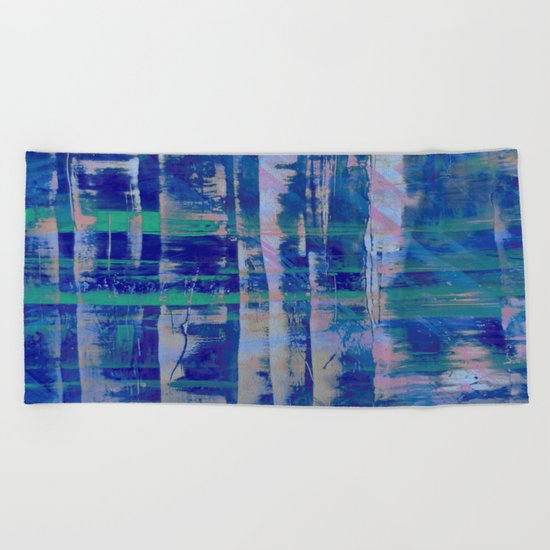 Broken Blue Beach Towel