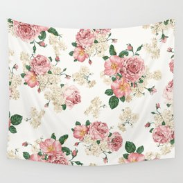 Wallpaper Flowers Wall Tapestry