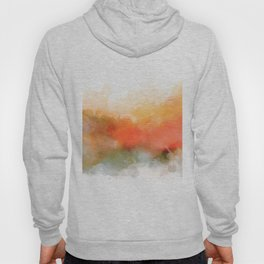 Soft Marigold Pastel Abstract Hoody