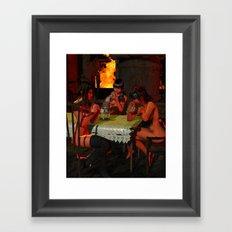 HeartBurn Framed Art Print