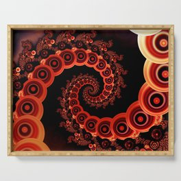 Red Octopus Tentacles for a Chinese Lantern Festival Serving Tray