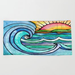 Beachy #society6 #spring #summer Beach Towel