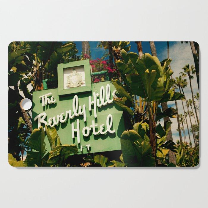 Classy Beverly Hills Hotel Mid Century Modern Neon Sign Cutting Board