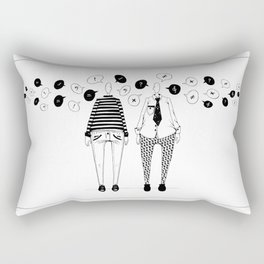 Little Talks Rectangular Pillow
