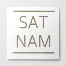 SAT NAM glow Metal Print