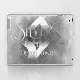 SILVER for the Demon Towers. Shadowhunter Children's Rhyme. Laptop & iPad Skin