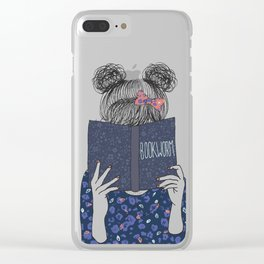 Book Worm Clear iPhone Case