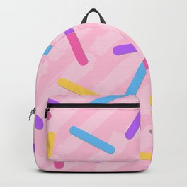 Rainbow sprinkles pattern Backpack