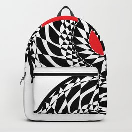 geometric vinyl Backpack