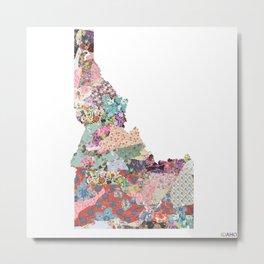 Idaho map Metal Print